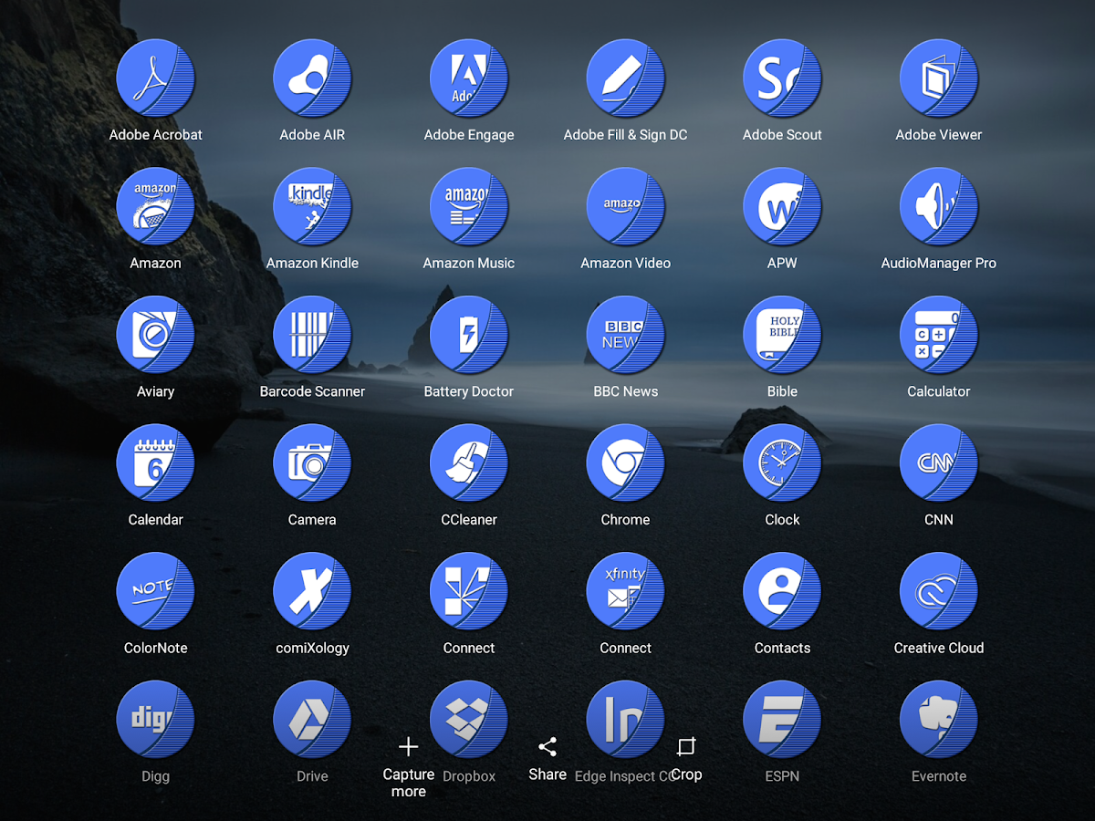 Naz Blue - Icon Pack Screenshot 9