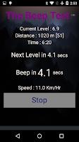 Screenshot of Beep Test