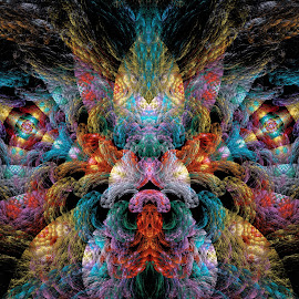 Energy Vibrations by Peggi Wolfe - Illustration Abstract & Patterns ( abstract, wolfepaw, bright, color, vibration, fun, fractal, digital, energy )