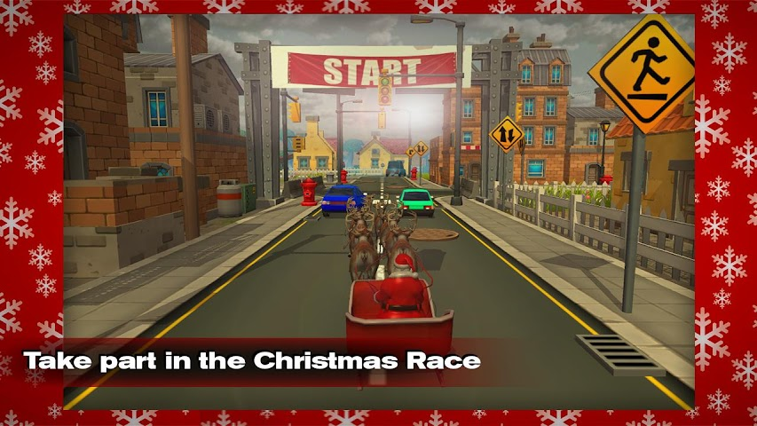 android Santa vs Lada VAZ Racing 3D Screenshot 0