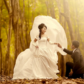 by Dimas Winarto - Wedding Bride & Groom ( unique, bridal, vintage, summer, bride, groom )