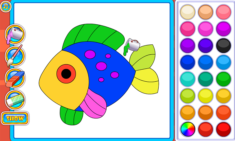 android Puzzles and Coloring Games Screenshot 0