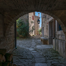 Medieval town of Groznjan by Dubravka Krickic - Buildings & Architecture Architectural Detail ( famous, tranquil, old, groznjan, art, beautiful, croatia, architectural detail, architecture, town, medieval )