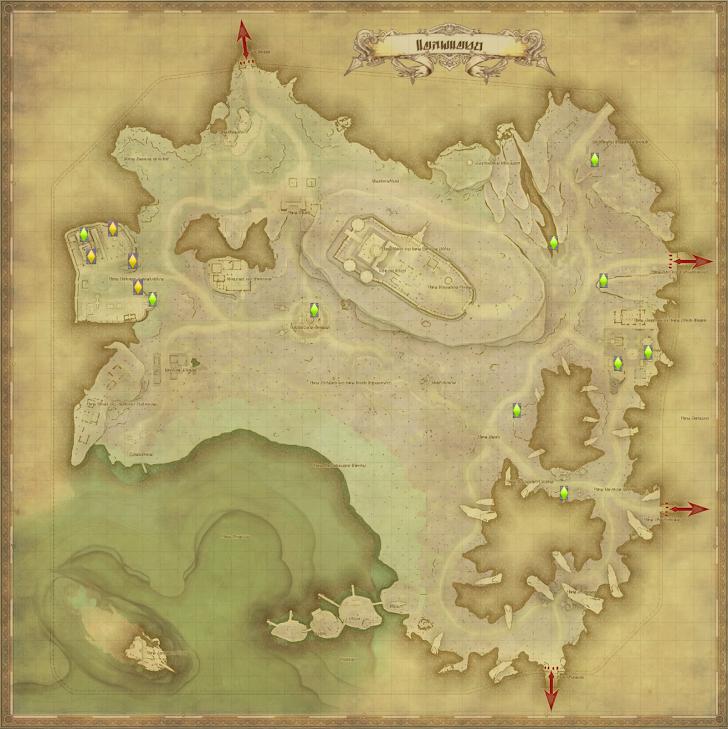 レイクランド 風脈の泉 地図