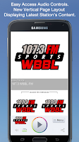 Screenshot of 107.3 WBBL-FM
