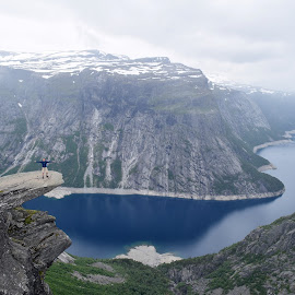 Trolltunga by Ester Ayerdi - Landscapes Travel ( lake, travel, landscape, norway, fjord )