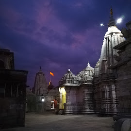 Historical Temple by Siddharth Bambole - Buildings & Architecture Public & Historical ( night, honor, temple, simple, photography )