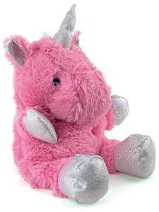 Игрушка мягконабивная плюшевая Единорог-грелка, розовый, Город Игр