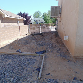 The new driveway and patio by SHARON ARMIJO - Buildings & Architecture Homes ( projects, cement, dirt, homes, construction )