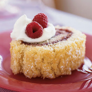 Almond Jelly Roll with Raspberry Filling