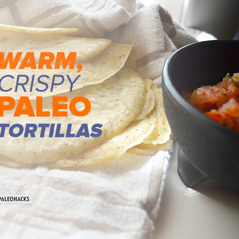 Warm, Crispy Paleo Tortillas