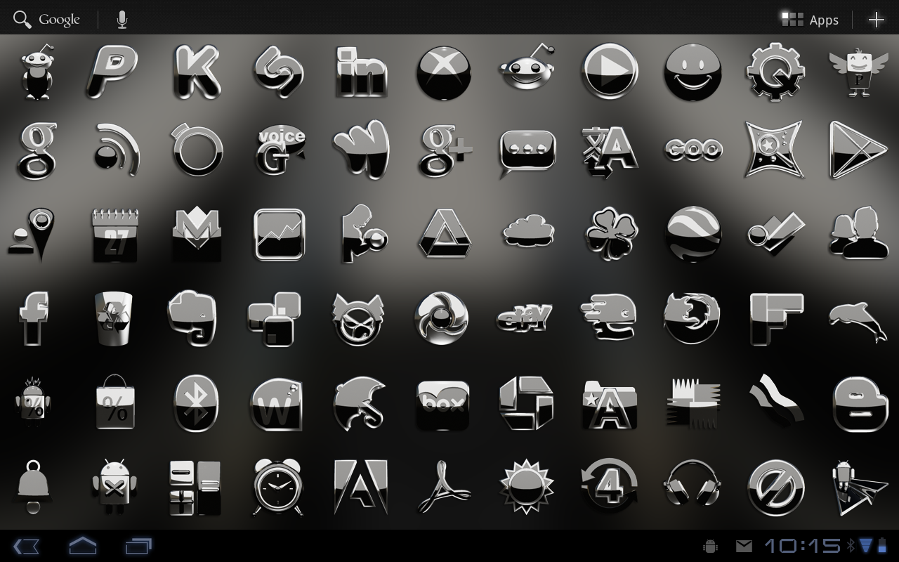 Black S Next Launcher theme Screenshot 4