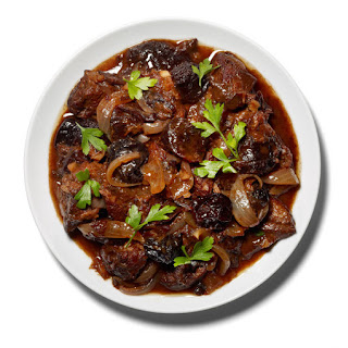 Braised Lamb With Red Wine and Prunes