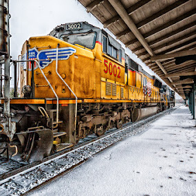 UP 5002 by Greg Booher - Transportation Trains
