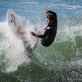 HB Surfer by Jose Matutina - Sports & Fitness Surfing ( water, guy, california, male, sport, sea, pacific, ocean, huntington beach, united states, omd-em10mii, orange county, surfer, dude, man, olympus )