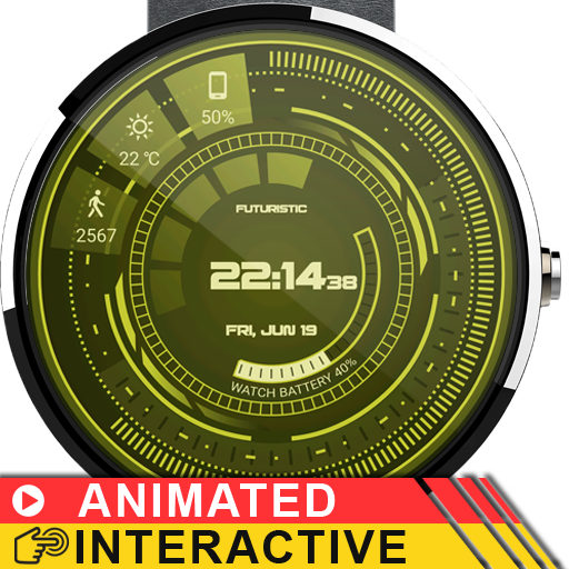 Futuristic GUI Watch Face Screenshot 8