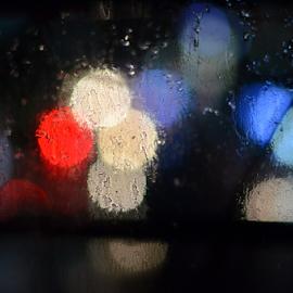 Raining outside by Nabyendu Saha - Abstract Light Painting