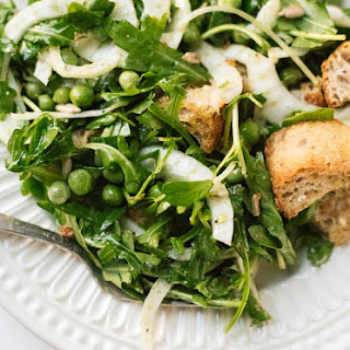 Erin's Spring Panzanella with Fresh Peas and Fennel