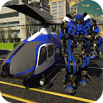 Police Helicopter Robotic Battle Icon