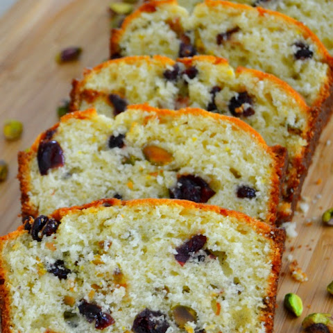 Cranberry Orange Pistachio Bread {Nutty Desserts Week!!}