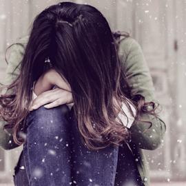 Sorrow by Raja Muhammad Fadillah - People Portraits of Women ( snow, sadness, fake, depression, photography, women )