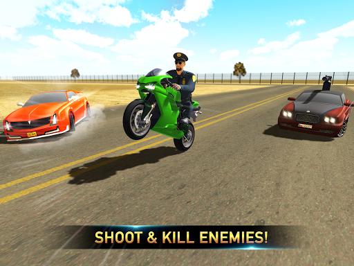Police Bike Shooting - Gangster Chase Car Shooter screenshot 5