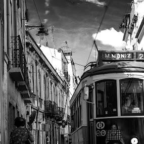 The bag. by José Borges - Black & White Street & Candid ( fashion, life, bag, tram, travel, city,  )