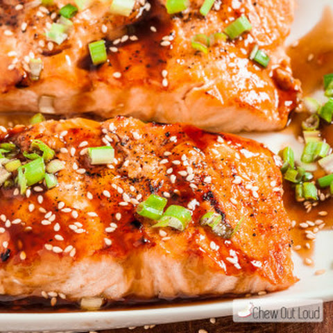 Teriyaki Mushroom Sauce With Grilled Salmon Recipe — Dishmaps