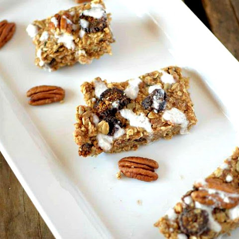 Coconut Glazed Fig and Pecan Granola Bars
