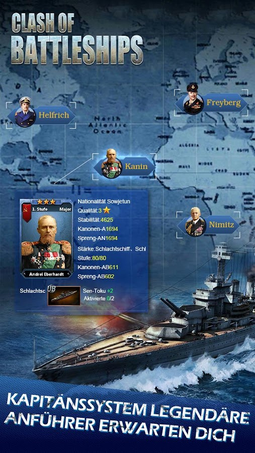 Clash of Battleships - Deutsch Screenshot 1