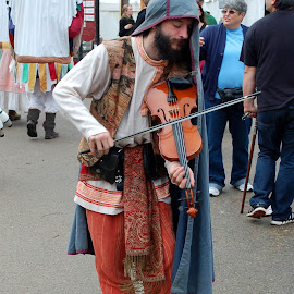 Street Fiddler by Philip Molyneux - People Musicians & Entertainers (  )