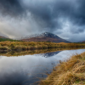 Glencoe by Bariscan OZKALAY - Landscapes Mountains & Hills ( scotland, glencoe, hdr, tokina 11-16, pwcreflections, d7000,  )