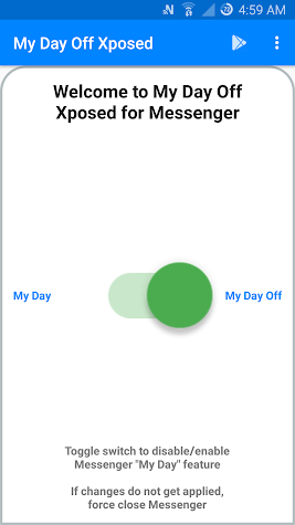 My Day Off for Messenger Xposed Screenshot