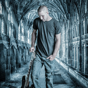 Creating the dream by April Sadler - People Musicians & Entertainers ( #guitar #man #gothic #dark #posing,  )