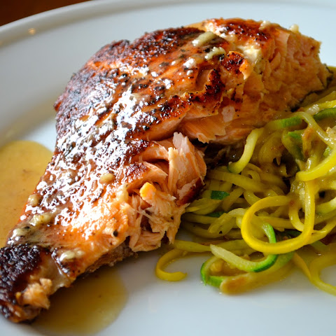 Pan-Seared Salmon with Lemon-White Wine Sauce