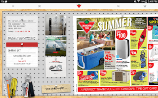 Screenshot of Canadian Tire