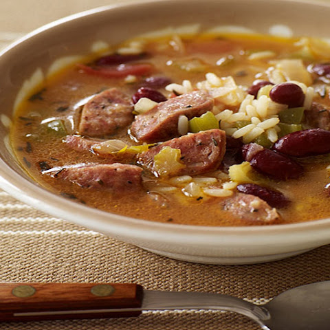 Slow Cooker Red Bean, Sausage and Rice Soup
