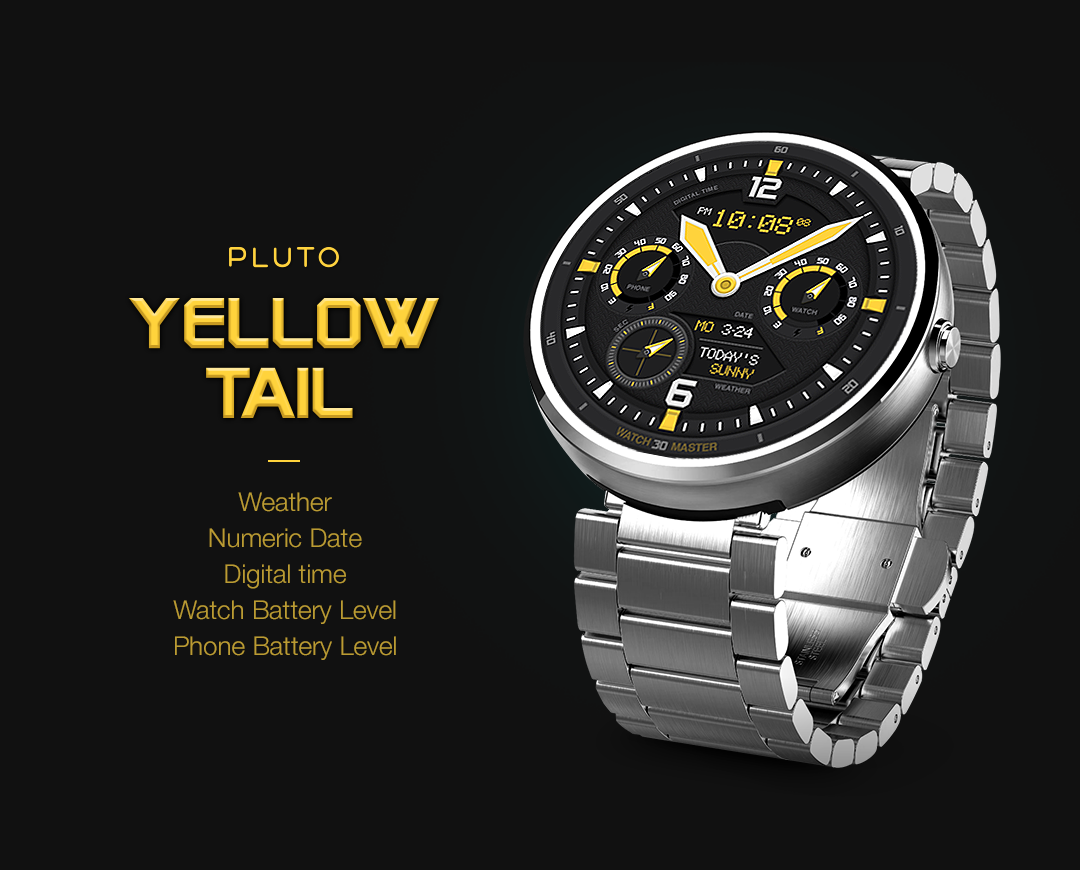 YellowTail watchface by Pluto Screenshot 1