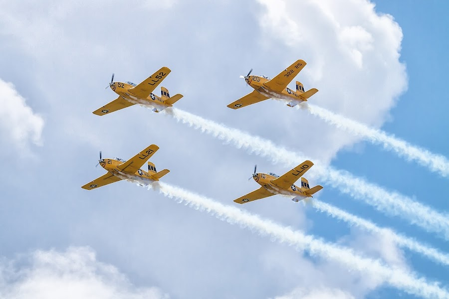 Formation Four by Ron Meyers - Transportation Airplanes