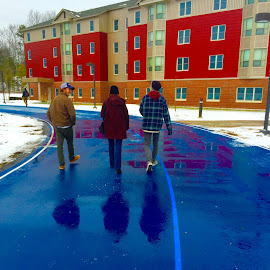 Blue Road by Jon Ablicki - People Family ( new england, maine, family, college, people )