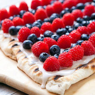 Dessert Berry Pizza on the Grill