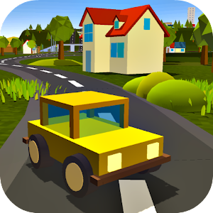 Roads Blocky: Pixel Cars