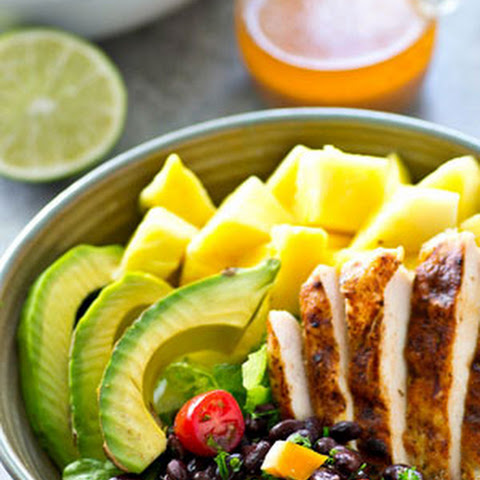 Tropical Grilled Chicken Mexican Salad Bowls