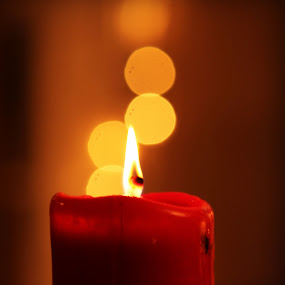 by Rima Biswas - Artistic Objects Other Objects ( candle, red, yellow, light, bokeh, flame )
