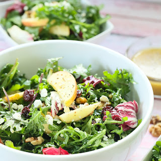 Walnut Apple Kale Salad