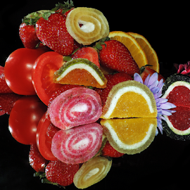 fruits,vegetables,candys and flowers by LADOCKi Elvira - Food & Drink Fruits & Vegetables ( candys, fruits )