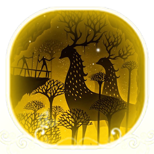 Cartoon golden cute deer theme