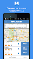 Screenshot of Minicabster - Book a Minicab