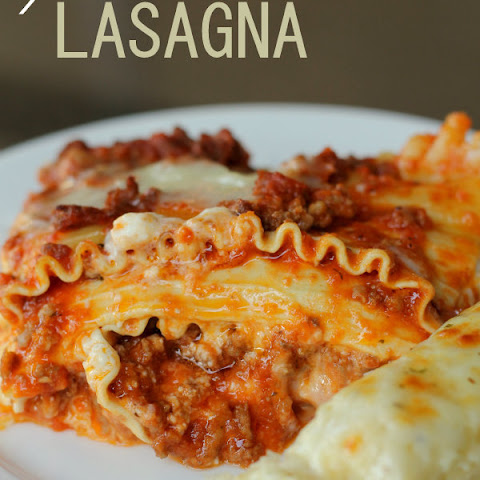 Lasagna with sour cream and cottage cheese recipes yummly for Better homes and gardens lasagna