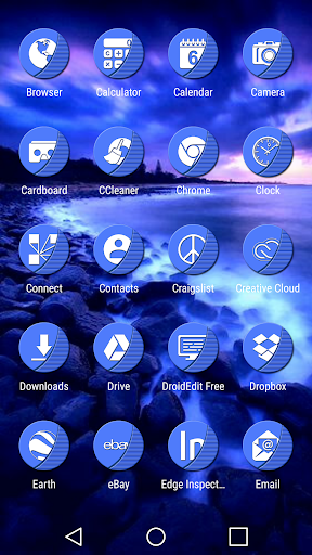 Naz Blue - Icon Pack - screenshot